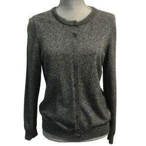 Calvin Klein Large Gray Cardigan Sweater